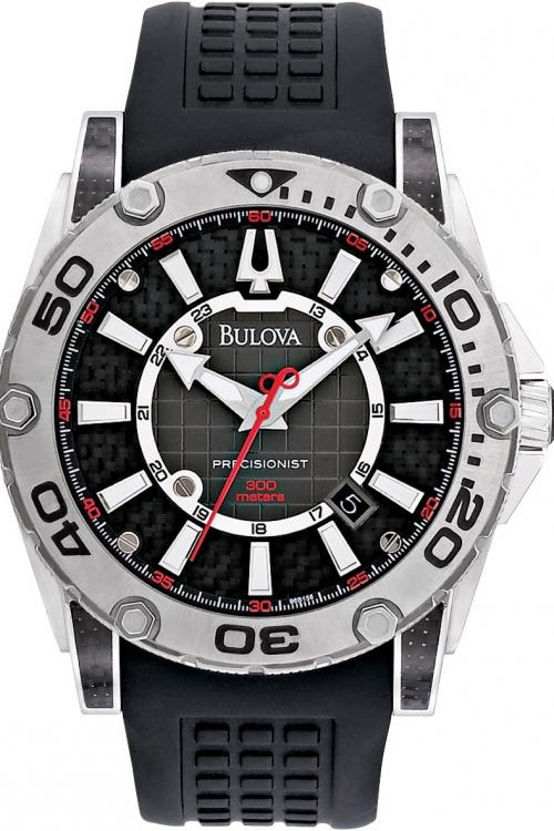 Mens Bulova UHF Precisionist Champlain Diver Watch 96B155