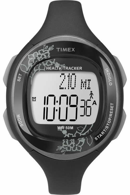 Ladies Timex Indiglo Health Tracker Alarm Chronograph Watch