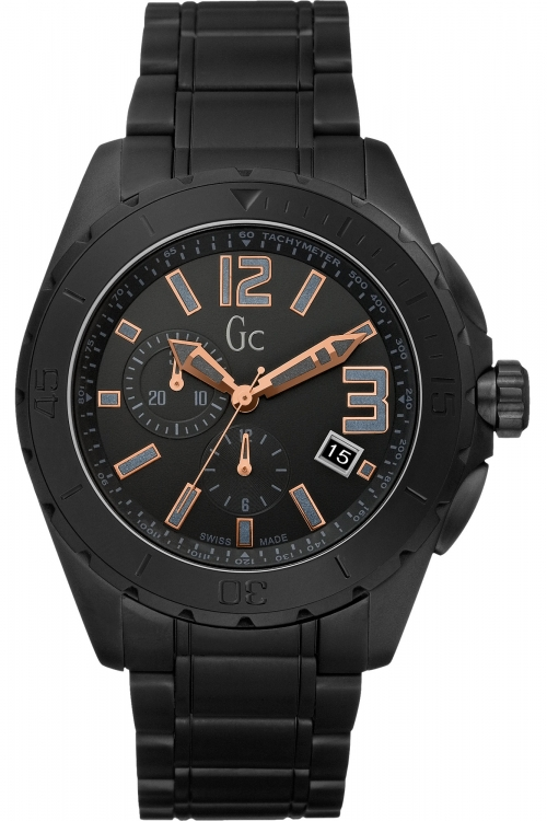 Mens Gc Sport Class XXL Blackout Ceramic Watch X76009G2S