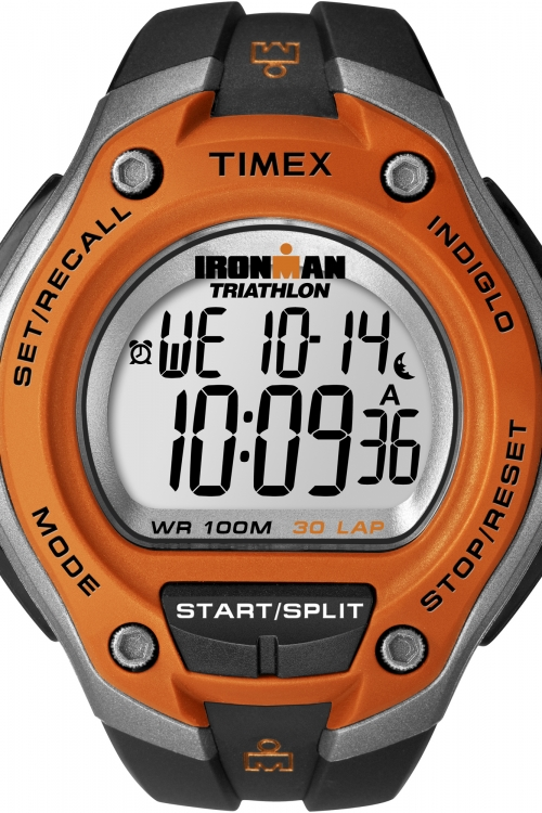 Mens Timex Indiglo Ironman Triathlon 30 Lap Alarm Chronograph Watch T5K529