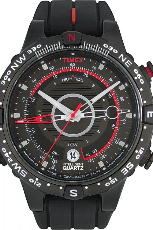 Mens Timex Indiglo Intelligent Quartz Tide-Temp Compass Watch T2N720
