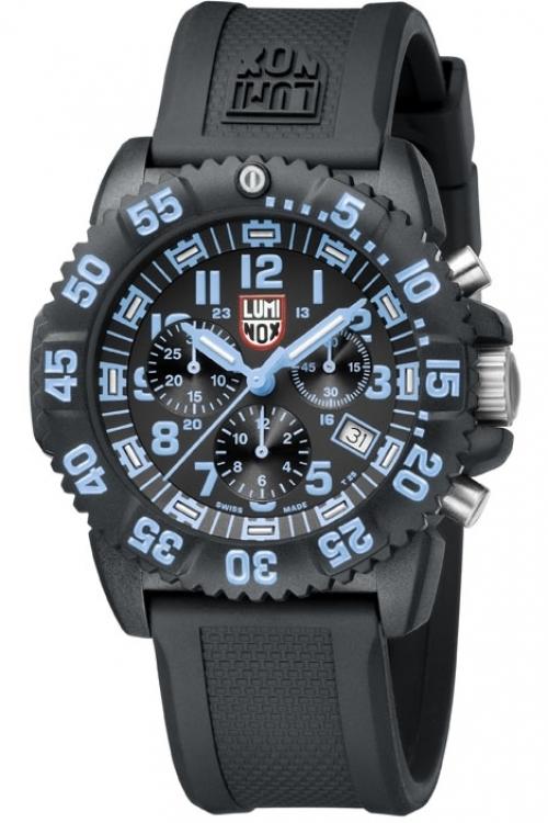 Mens Luminox Navy Seal Colormark 3080 Series Chronograph Watch A3083