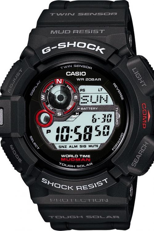 Mens Casio G-Shock Mudman Alarm Chronograph Watch G-9300-1ER