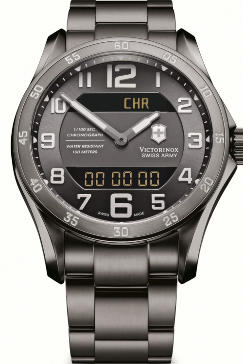 Mens Victorinox Swiss Army Chrono Classic Alarm Chronograph Watch 241300