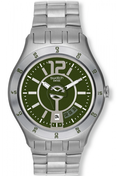 Mens Swatch In A Green Mode Watch YTS407G