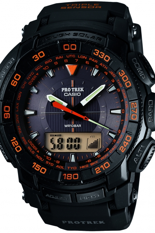 Mens Casio Pro-Trek Alarm Chronograph Watch PRG-550-1A4ER