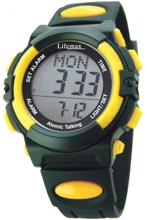 Mens Lifemax Digital Atomic Talking Alarm Watch 429
