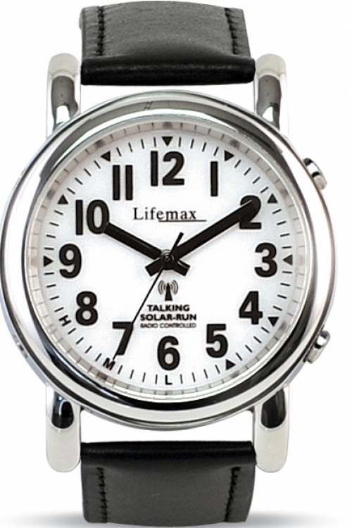 Mens Lifemax Talking Radio Controlled Solar Powered Watch 430