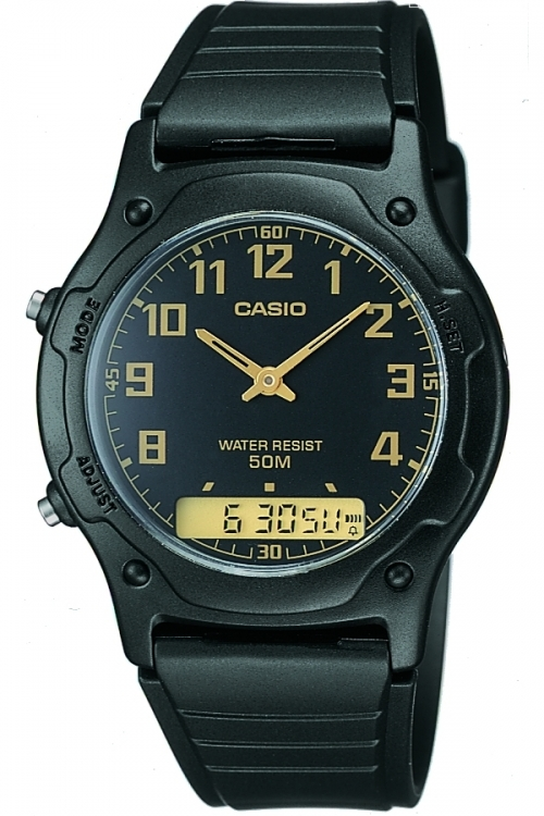Mens Casio Casio Collection Alarm Chronograph Watch AW-49H-1BVEF