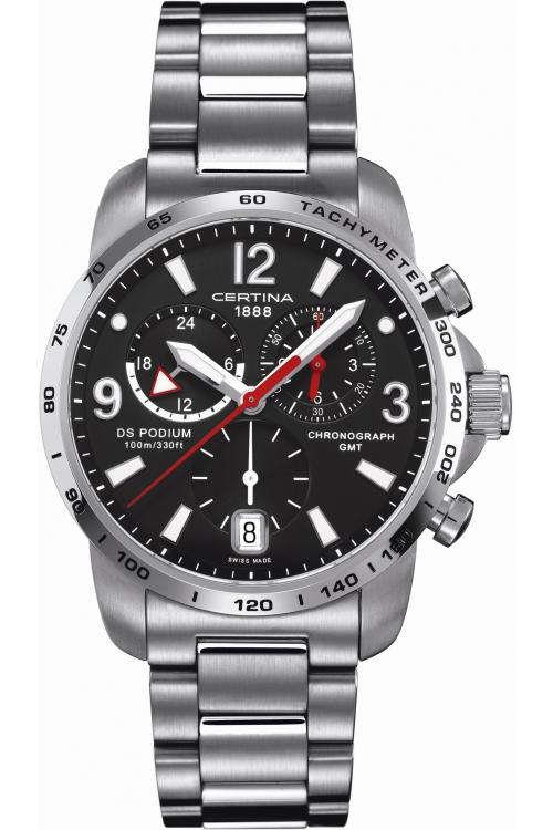 Mens Certina DS Podium GMT Chronograph Watch C0016391105700