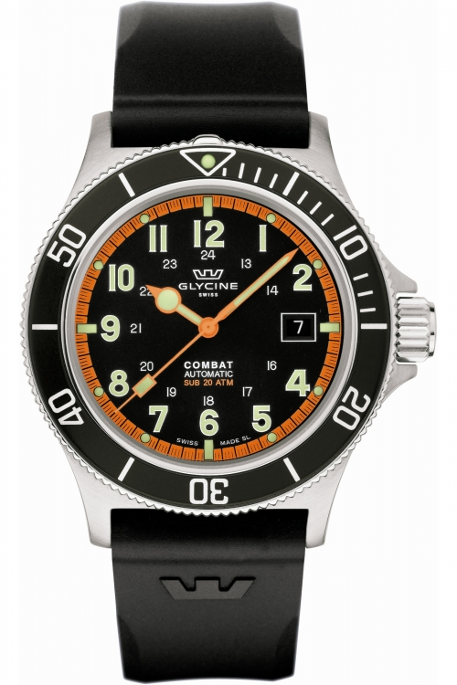 Mens Glycine Combat Sub Auto Automatic Watch 3908.19AT-N-D9