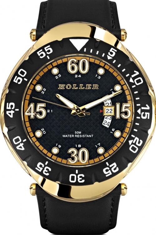 Mens Holler Goldwax Gold Watch HLW2188-2