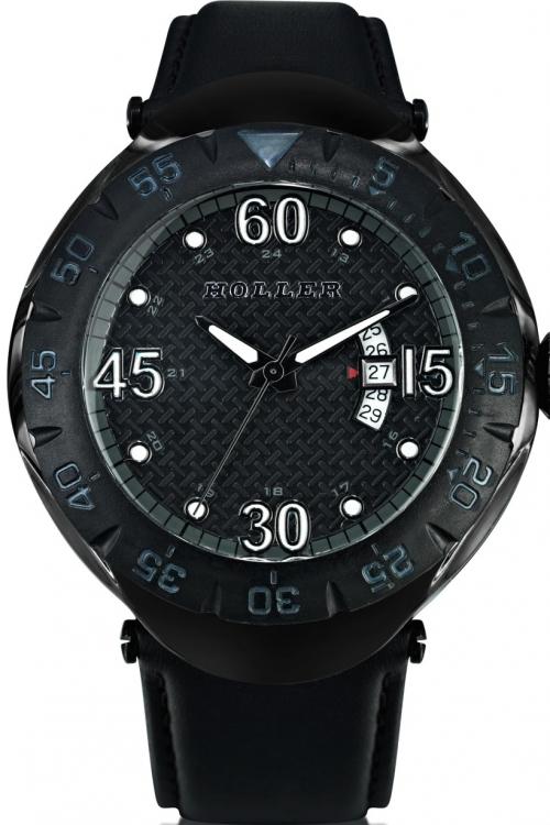 Mens Holler Goldwax Black Watch HLW2188-4