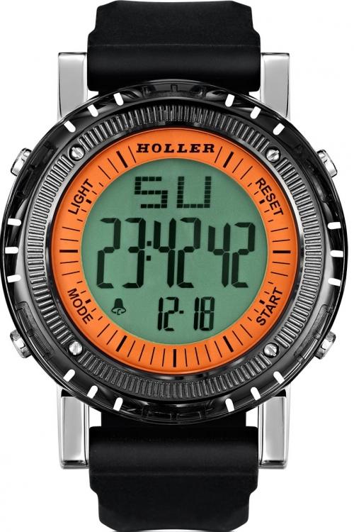 Mens Holler Groovesville Orange Alarm Chronograph Watch HLW2190-2