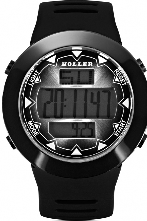 Mens Holler Inferno Black Alarm Chronograph Watch HLW2191-3