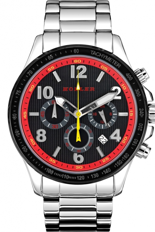 Mens Holler Invictus Red Chronograph Watch HLW2193-3