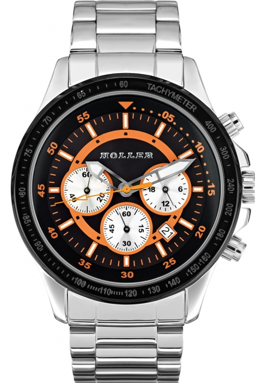 Mens Holler Invictus Orange Chronograph Watch HLW2193-4