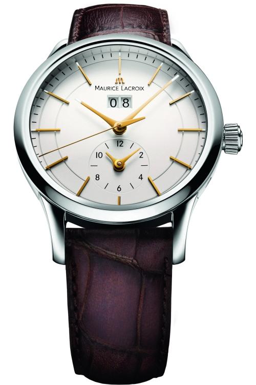 Mens Maurice Lacroix Les Classiques Grande Date GMT Automatic Watch LC6088-SS001-130
