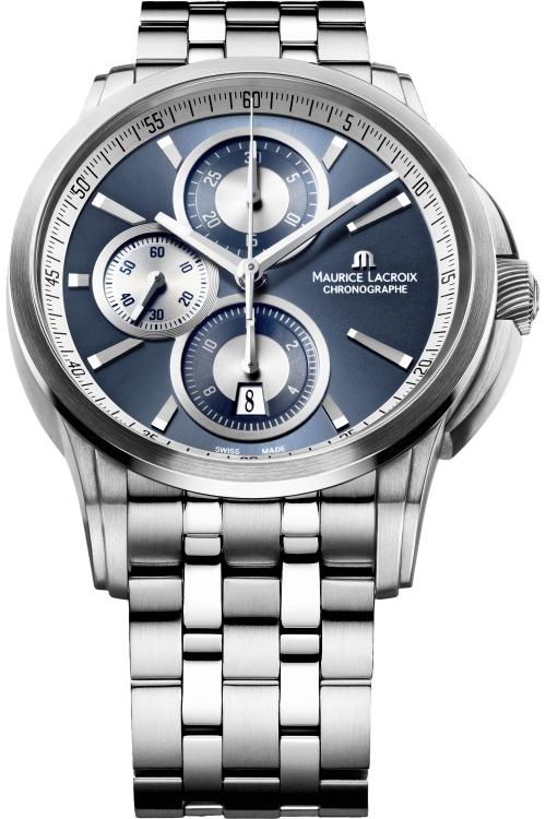 Mens Maurice Lacroix Pontos Automatic Chronograph Watch PT6188-SS002-430