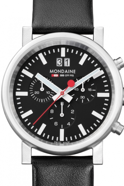 Mens Mondaine Swiss Railways Chronograph Watch A6903030414SBB