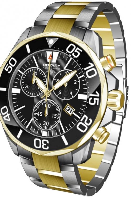 Mens Rotary Aquaspeed Chronograph Watch AGB00067/C/04