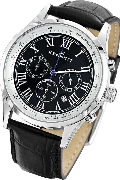 Mens Kennett Savro Chronograph Watch WSAVBKSILBK