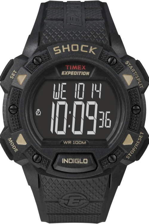Mens Timex Indiglo Expedition Shock Alarm Chronograph Watch T49896