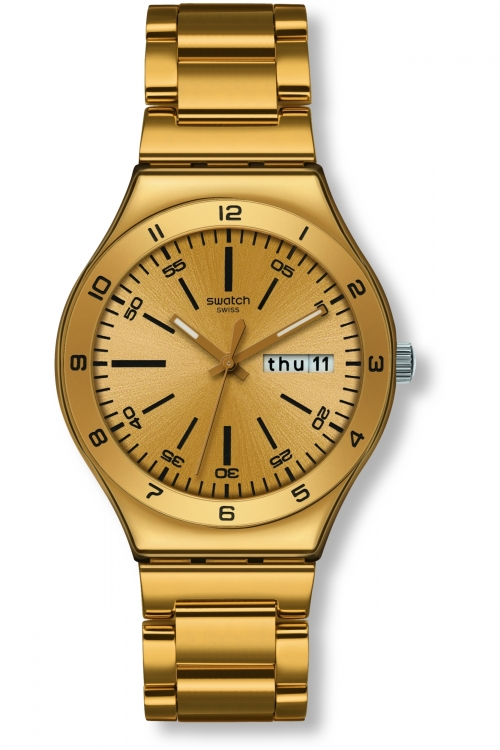 Mens Swatch Yellow Medal Watch YGG706G