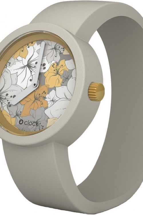 Ladies OClock Flower Power Sahara Lily Mountain Grey Small