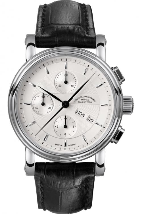 Mens Muhle Glashutte Teutonia II Automatic Chronograph Watch M1-30-95-LB