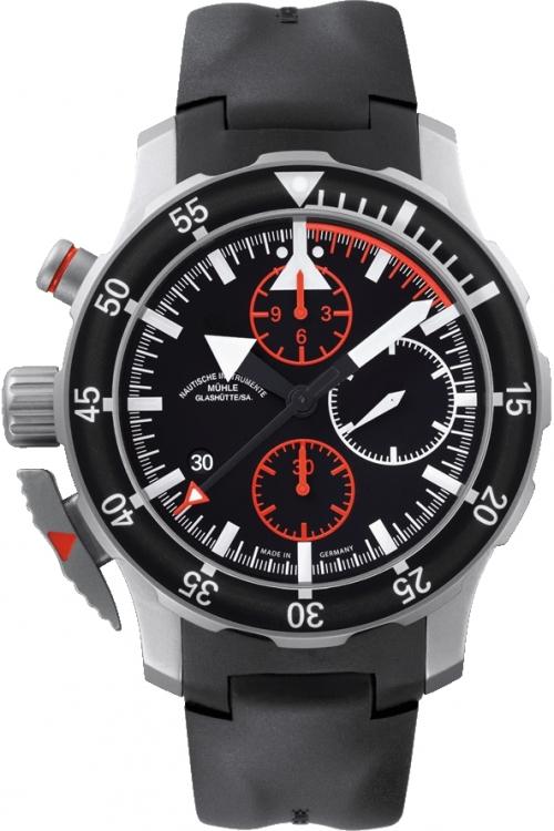 Mens Muhle Glashutte SAR Fleiger Automatic Chronograph Watch M1-41-33-KB