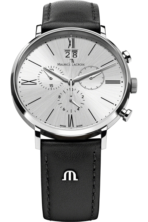 Mens Maurice Lacroix Eliros Chronograph Watch EL1088-SS001-110-001