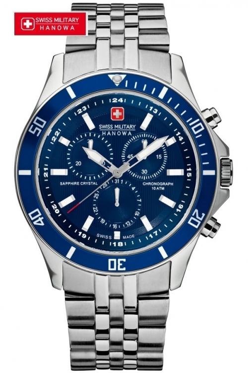 Mens Swiss Military Hanowa Flagship Chronograph Watch 6-5183.7.04.003