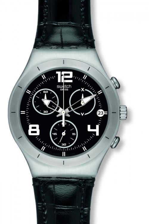 Mens Swatch Black Casual Watch YCS569