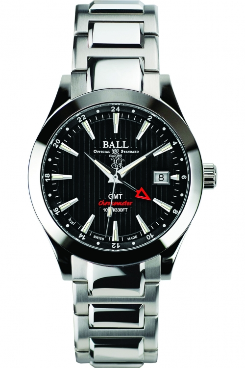 Mens Ball Engineer II Red Label Chronometer GMT Automatic Watch GM2026C-SCJ-BK