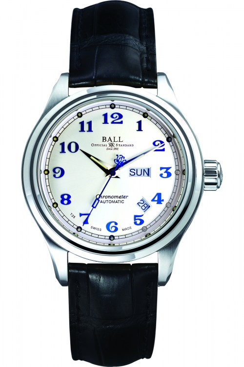Mens Ball Trainmaster Cleveland Express Chronometer Automatic Watch NM1058D-LCJ-SL