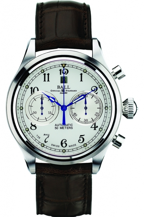 Mens Ball Trainmaster Cannonball Automatic Chronograph Watch CM1052D-L1J-WH