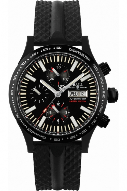 Mens Ball Fireman Storm Chaser DLC Glow Limited Edition Automatic Chronograph Watch CM2192C-P2-BK