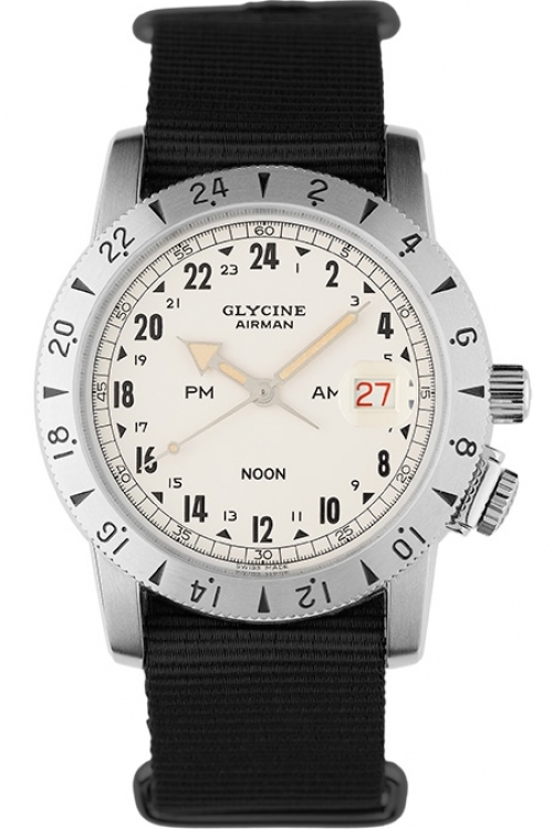 Mens Glycine Airman Vintage 1953 Purist Limited Edition Automatic Watch 3904.14.TB9