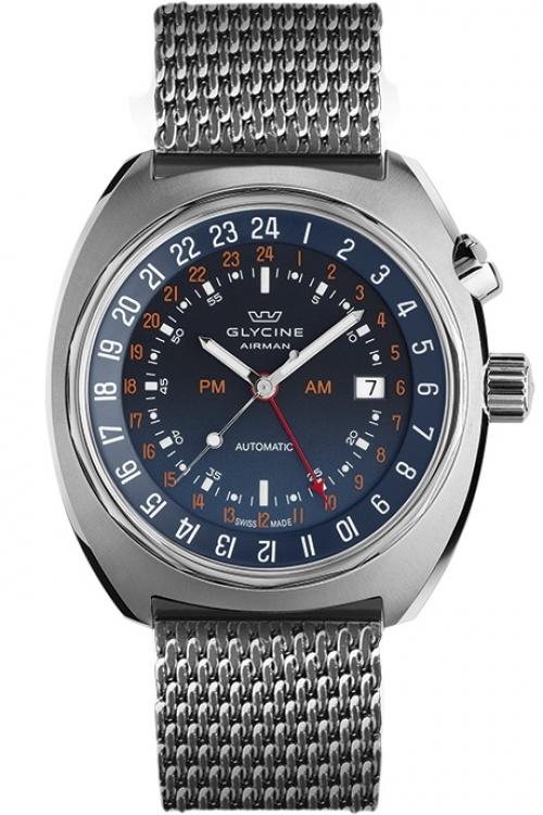 Mens Glycine Airman SST 12 Milano Automatic Watch 3903.188-MM