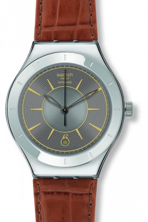 Mens Swatch Grey Sky Automatic Watch YAS406