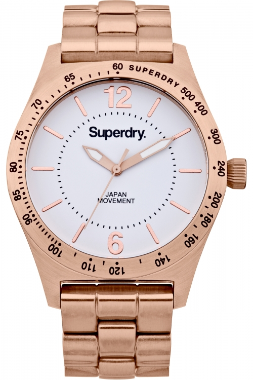 Ladies Superdry Infantry Steel Watch