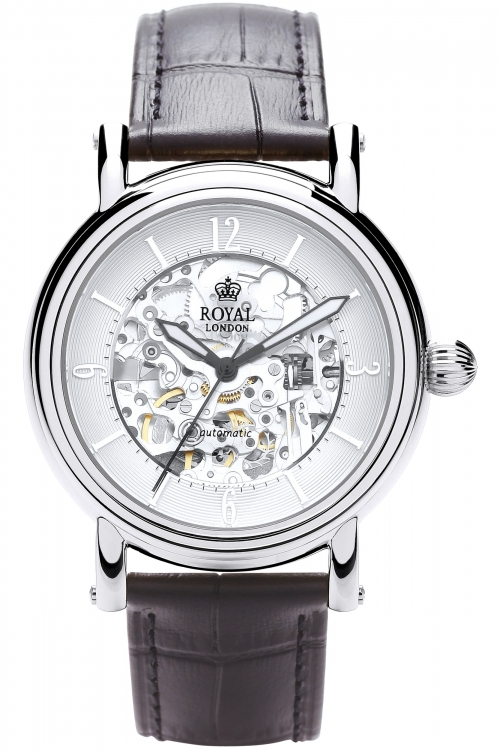 Mens Royal London Westminster Skeleton Automatic Watch 41150-01