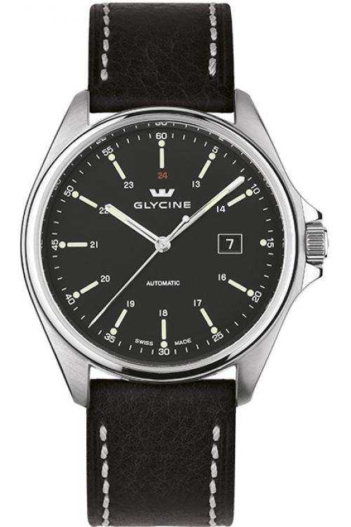 Mens Glycine Combat 6 Sapphire Automatic Watch 3890S.19-LB9B