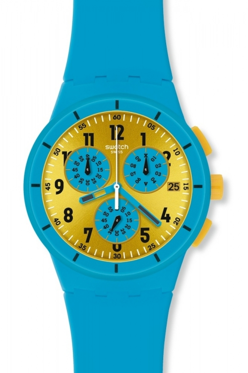 Mens Swatch Maresoli Chronograph Watch SUSS400