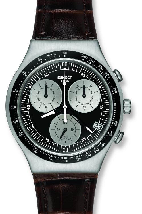 Mens Swatch Mocassin Chronograph Watch YCS572