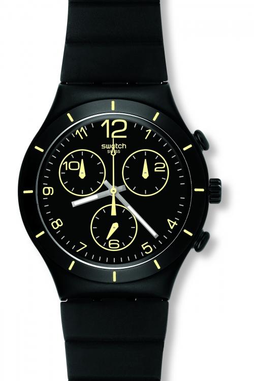 Mens Swatch Summer Night Chronograph Watch YCB4021