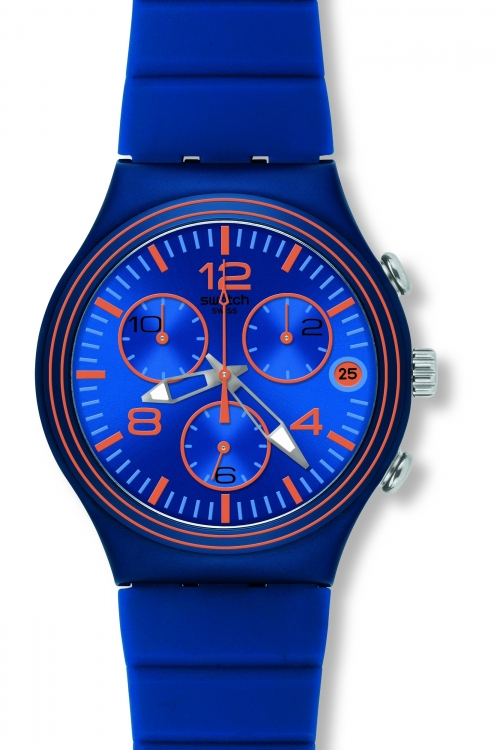 Mens Swatch Wave Addict Chronograph Watch YCN4009