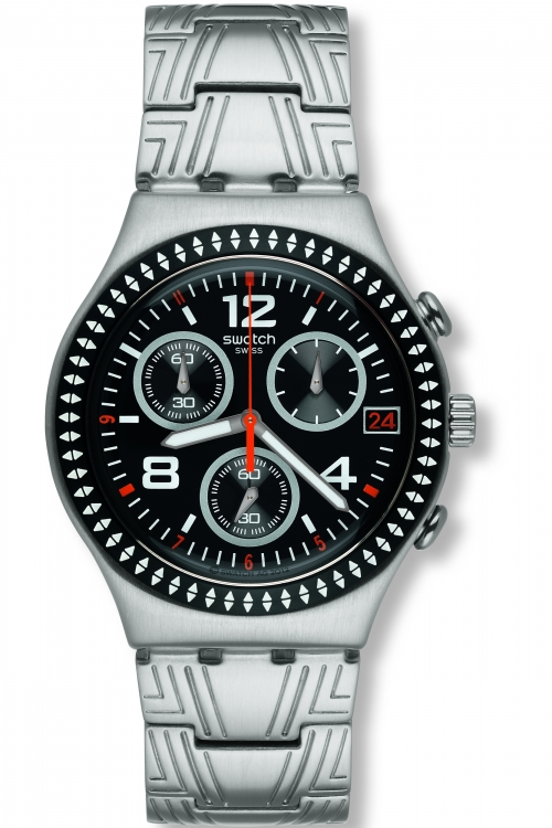 Mens Swatch Offset Chronograph Watch YCS576G