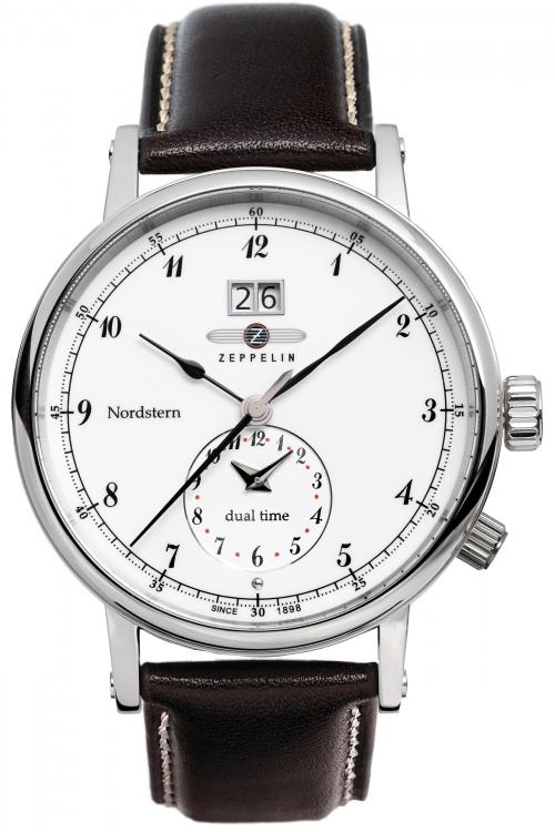Mens Zeppelin Nordstern Dual Time Watch 7540-1
